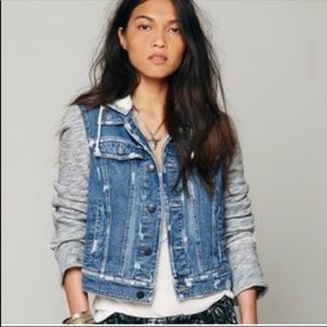 Free People | Hooded Jean Jacket